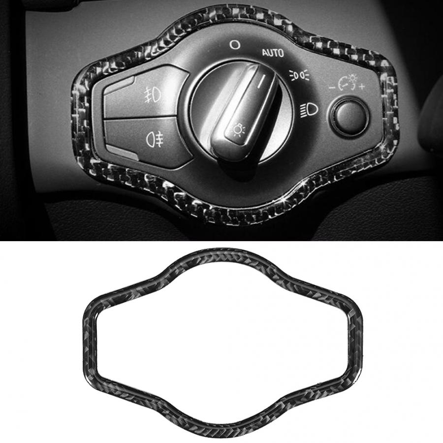 Carbon Fiber Headlamps Frame Decorative Sticker Cover Trim Fit for <font><b>Audi</b></font> <font><b>A4</b></font> B8 A5 2009 2010 2011 2012 <font><b>2013</b></font> 2014 2015 2016 image