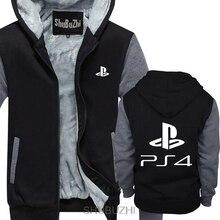 PLAYSTATION 4 PS4 bluza z kapturem męskie Gameing zabawna gra prezent obecna bluza z kapturem fajne dorywczo duma grube bluzy mężczyźni Unisex sbz4540