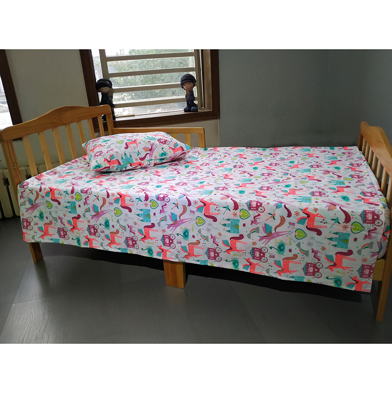 Flat Bed Sheet For Kids Bed Girls And Boys 110*180cm