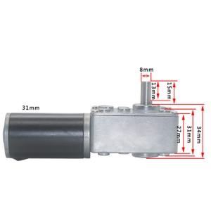 Image 4 - Thiên Động Cơ DC Turbo Con Sâu Giảm Xe Máy Điều Khiển Từ Xa Màn Cửa Hủy Giấy Sao Chép Các Máy