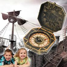 1pc Children's Simulation Compass Exquisite Pirate Captain Costume Toy Nautical Compass Halloween Party Game For Baby Kids Gift