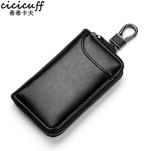 Genuine Leather KeyChain Unisex Key Bag Multifunction Organizer Wallet Holder Smart Housekeeper Car Small Key Case Keys Pouch 1