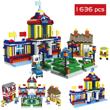 1636 PCS Building Blocks Big Size Model Colorful Children's Friend Enlighten Designer Constructor Educational Creative Toys