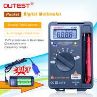 OUTEST 3 3/4 Multitester VC921 3999 DMM vs VICTOR vc921 Mini Integrierte Handheld Pocket Digital Frequenz Multimeter