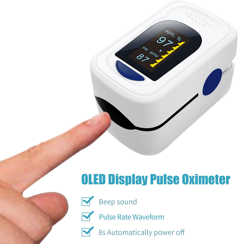Fingertip Pulse Oximeter De Dedo Pulso Oximetro SpO2 Monitor Home Family Pulse Oxymeter Pulsioximetro Finger Pulse Oximeter OLED
