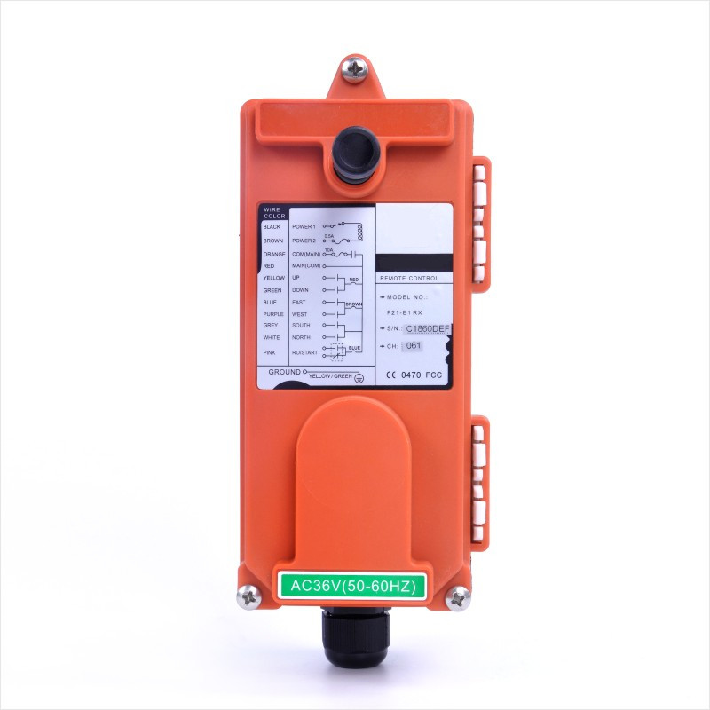 Image 5 - F21 E1 (1 Transmitter 1 Receiver) Industrial Wireless Radio 1  speed 6 Buttons Remote Controller for Hoist CraneRemote Controls   -