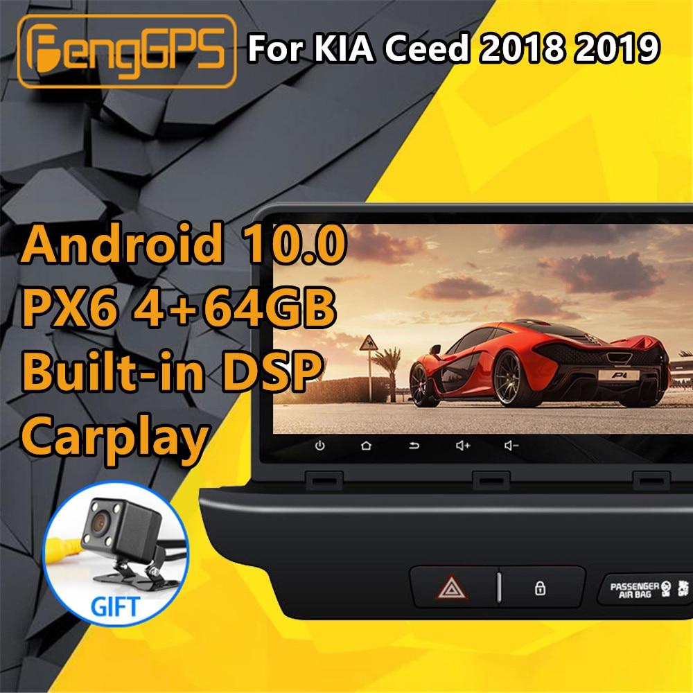 Para KIA Ceed 2018 2019 Android Radio cassette grabador PX6 DSP coche reproductor Multimedia estéreo DVD Unidad de navegación GPS pantalla