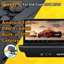 Voor Kia Ceed 2018 2019 Android Radio Cassette Recorder PX6 Dsp Car Multimedia Stereo Speler Dvd Gps Navigatie Head Unit screen