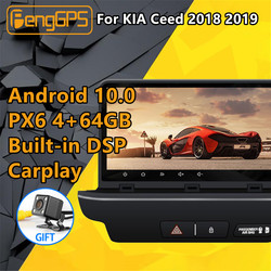 For KIA Ceed 2018 2019 Android Radio cassette recorder PX6 DSP Car Multimedia Stereo Player DVD GPS Navigation Head unit screen