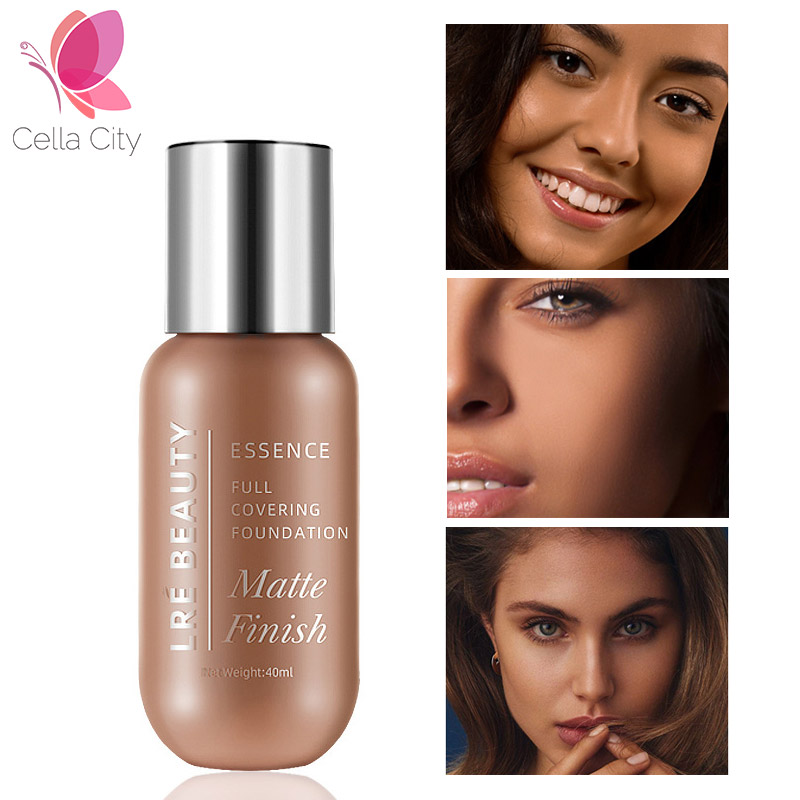Cellacity profesional base foundation 40ml Long Lasting 10 color Liquid Face Foundation Makeup Coverage Natural Foundation image