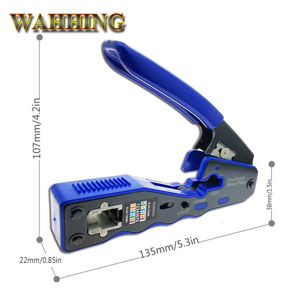 RJ45 narzędzie sieci zaciskarki narzędzia do zaciskania szczypce do zdejmowania izolacji cięcia Ethernet kabel pasuje RJ45 Cat6 Cat5e Cat5 STP zatyczki do RJ45 złącze nowy