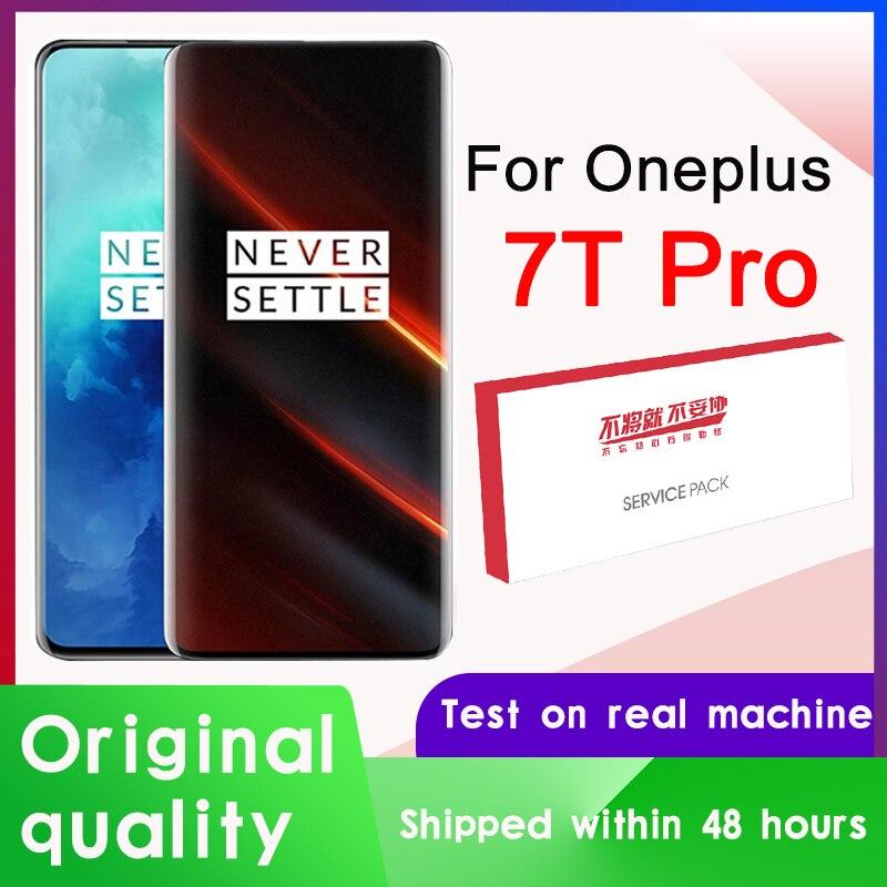 Оригинальный дисплей 6,67 дюйма для OnePlus 7T Pro AMOLED, ЖК-дисплей, экран для OnePlus 7T Pro, экран