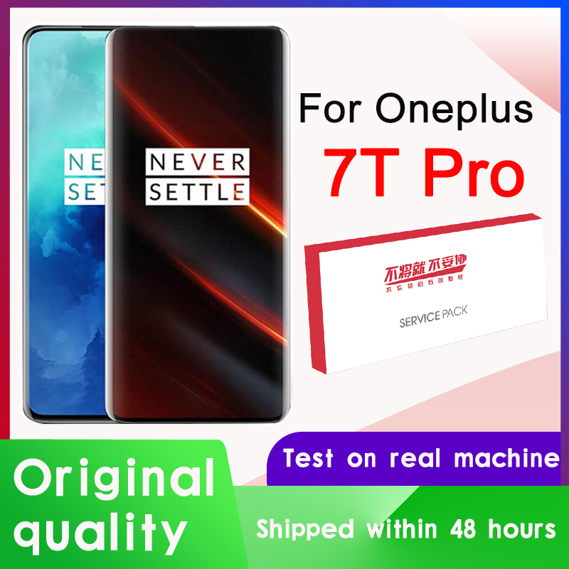 "Original 6.67 ""display para oneplus 7t pro amoled display lcd tela de toque digitador assembléia para oneplus 7t pro tela"