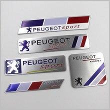 1 шт. автомобильный Стайлинг 3D спортивная эмблема значок Алюминиевый Автомобильный кузов багажник наклейки для Peugeot 206 307 308 207 407 3008 208 508 2008 5008