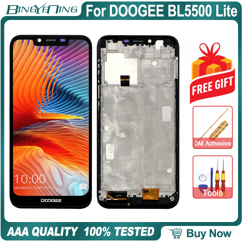 100% New Original For Doogee BL5500 Lite LCD&Touch screen Digitizer with frame display Screen module accessories Replacement-in Mobile Phone LCD Screens from Cellphones & Telecommunications