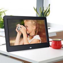 Dijital fotoğraf çerçevesi ultra ince HD 10 inç ekran LED aydınlatmalı elektronik fotoğraf albümü resim müzik Movie Player uzaktan kumanda