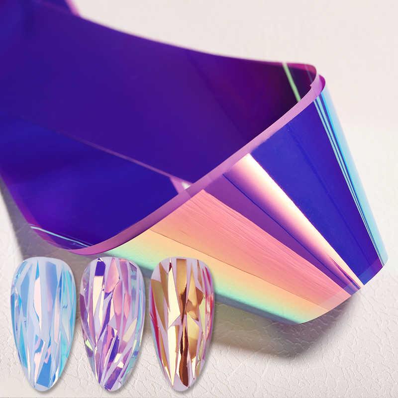 1 Box 70*4Cm Warna Kuku Payet Kuning Biru Gelas Kertas Kertas Stiker Tips Nail Art Dekorasi Kuku aksesoris