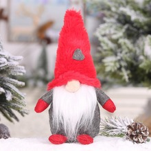 Christmas Decorations Plush Santa Claus Gnome Doll Pendant Xmas Party Gift Desktop Ornament For Home Holiday Decoration