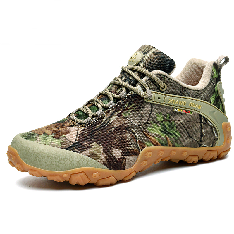 Unisex Camouflage Outdoor Trekking Hiking climbing Shoes Sneakers For Women Men Sport Trail Hunting Mountain Shoes Man Woman in Hiking Shoes from Sports Entertainment