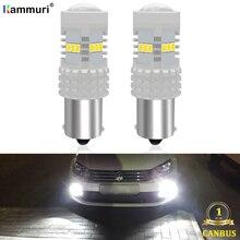 (2) White 6000K Canbus No Error 1156 P21W LED Bulb for Volkswagen Passat B7 2011 2012 2013 2014 Fog Daytime Running Lights DRL