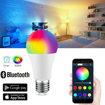 Led Lamp Smart Bulb E27 lampara Led Smart Light 15W Bombillas Led Bluetooth RGB Smart Home life Dimmable Decorative AC85-265V