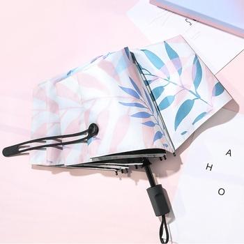 Winylowy składany Parasol ochrona przed słońcem i ochrona UV damski składany Parasol słoneczny i deszczowy podwójny przenośny Parasol tanie i dobre opinie 48-53 cm promień Słoneczne i deszczowe parasol 190 t nylon fabric Pongee Nie-automatyczny parasol Dorosłych Trzy składane parasol