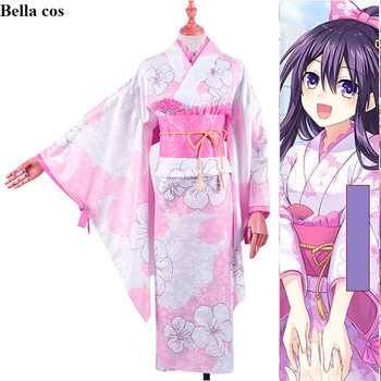 DATE A LIVE OP THEME Yatogami Toka cosplay costume female kimono dress uniform Halloween costumes for women Anime clothes outfit 1