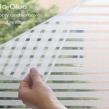 Window Decal Glass-Film Vinyl Non-Adhesive Striped Kitchen Matte Office PVC Home