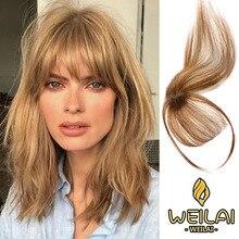 WEILAI красивые девушки 3D воздушные челки волосы клип на клипсе челка спереди может быть свернут и окрашены тонкий светильник удобный и реалистичный парик