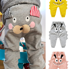 Pants Belly-Trousers Spring Bottoms Animal-Print Baby Baby-Boys-Girls Infant Born High-Waist