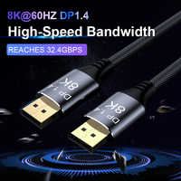 DisplayPort 1,4 Kabel 8K 4K HDR 60Hz 144Hz Display Port Adapter Für Video PC Laptop TV DP 1,4 DisplayPort Kabel