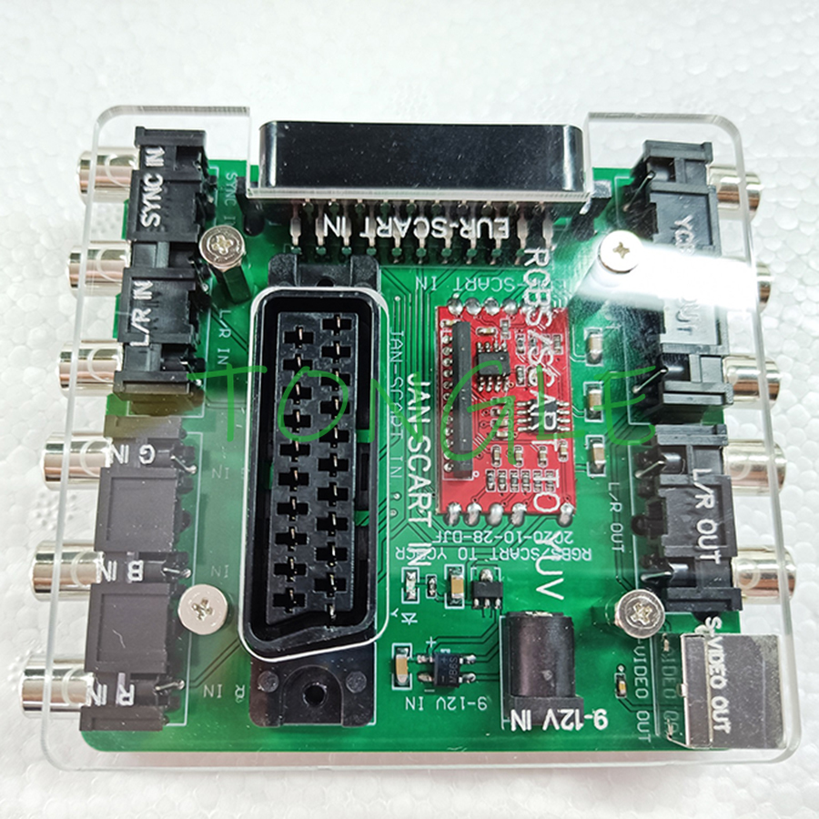 SCART RGBS to YUV YCBCR Video Converter SCART (JAP) & SCART (EUR) to YCBCR PCB Converting BOX for MD / SS / DC / PS/ SFC console