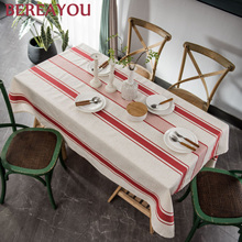 Nordic Tablecloth Stripe Wedding Decoration Table Party Table Cover American Tea Table Cloth Rectangle Dining Decor tafelkleed