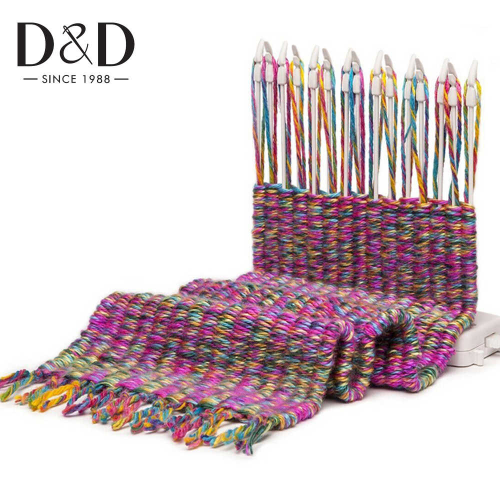 D&D Scarf Knitting Machine Knitting Loom Knit Hobby Tool Kits with Knitting Wool Yarn Child Educational Toys Craft Needlework