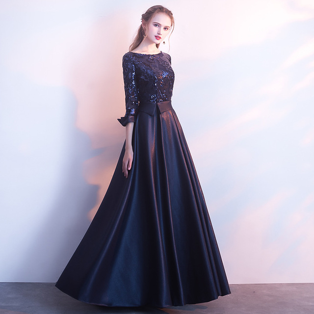 DongCMY Long Formal Sequined Prom Dresses Party New Plus Size Robe De Soiree Embroidered Gowns 4