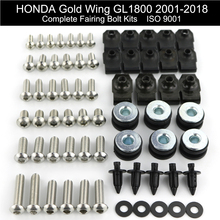Для Honda GL1800 GOLDWING 2001- полный обтекатель болт комплект кузов ветровые экраны винтовые клипсы скорость нержавеющая сталь