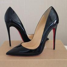 Shoes 8cm Classic High-Heels Red Bottom Luxury Brand New 12cm 10cm Pu Pumps