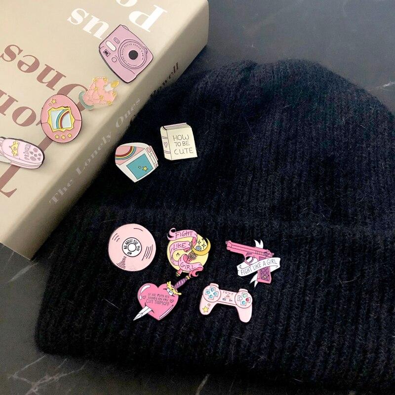 Fashion Lesbian Gay Brooch Male Genital Woman Breast Rainbow Heart Pink Milk Bottle Breast Black Lips Sexy Pins Badge Jewelry