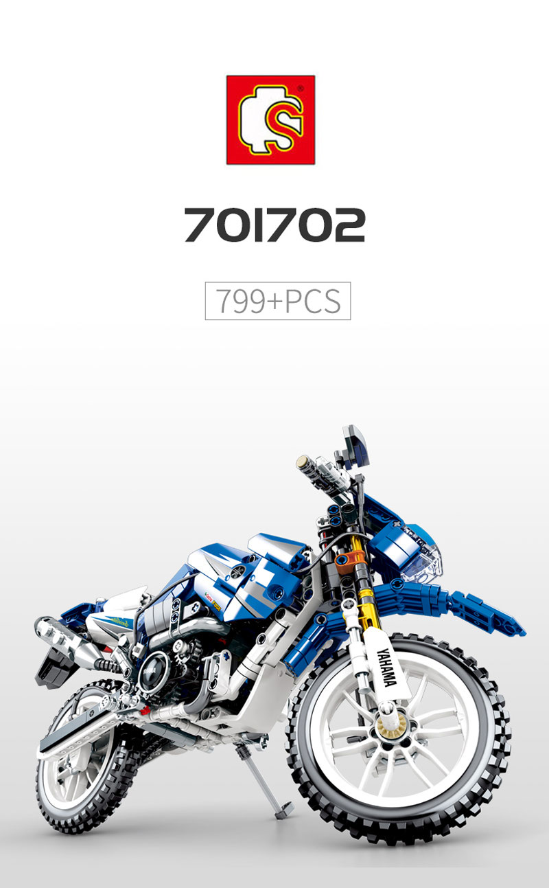 701702 Technic Power Cross Country Motorcycle Isle of Man Tourist Trophy MOC 709Pcs Model Building <font><b>Blocks</b></font> 20086 <font><b>20001</b></font> image