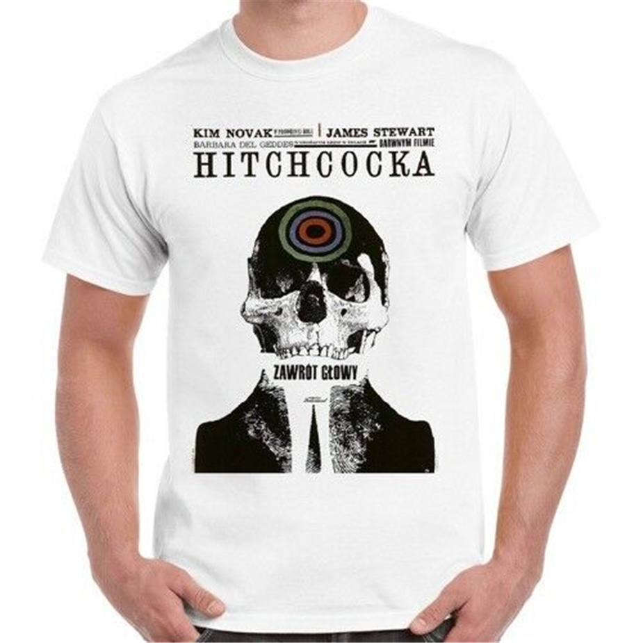 Alfred Hitchcock Vertigo Movie Poster Retro T Shirt 119 Birthday Gift Tee Shirt image