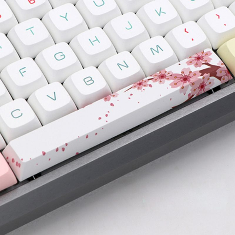 Replace SpaceBar Key Cap <font><b>PBT</b></font> Five Sides Dye-Subbed Spacebar 6.25U Cherry Profile Space Bar <font><b>Keycap</b></font> for DIY Mechanical Keyboard image