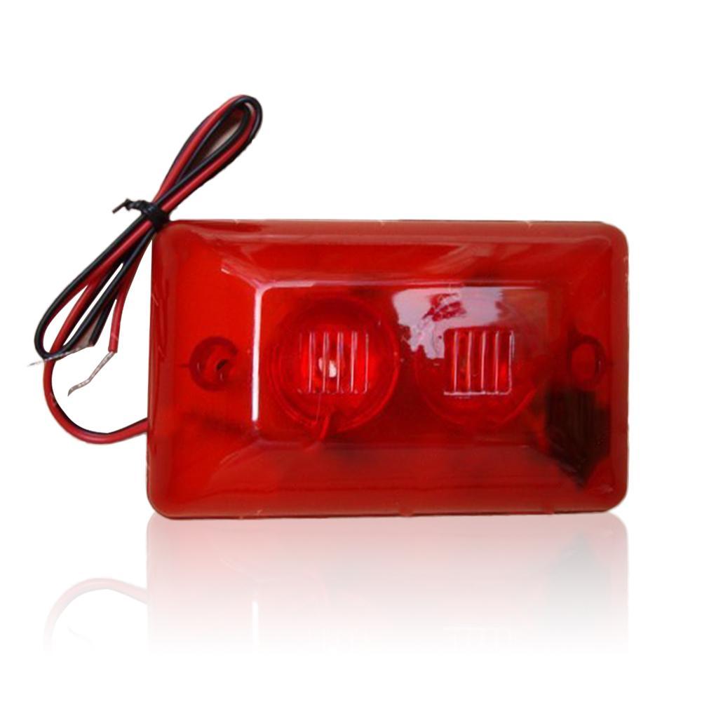 Geluid Licht Alert Veiligheid System Sensor Fire Alarm Waarschuwing Strobe Sirene Hoorn op title=