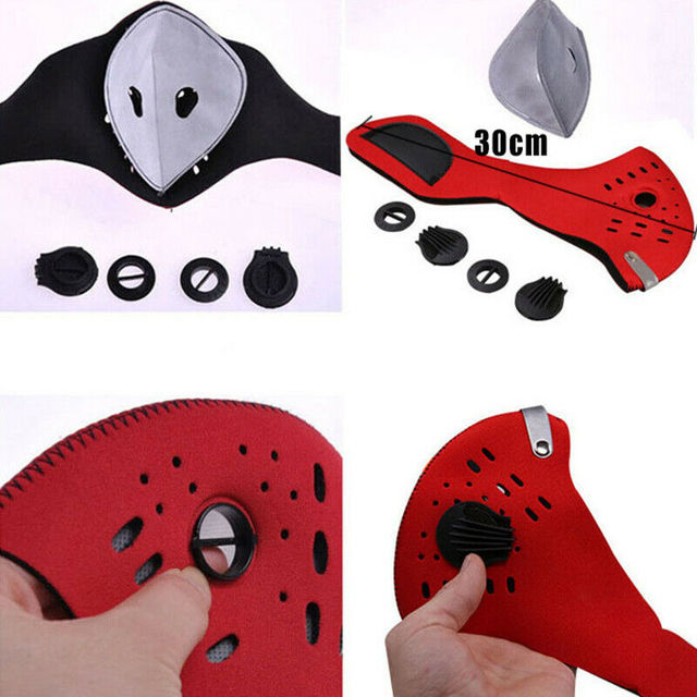 Adult Reusable PM2.5 Anti Flu Safety Elastic Filter Breathable Face Masks Outdoor Bicycle Face Shield 4