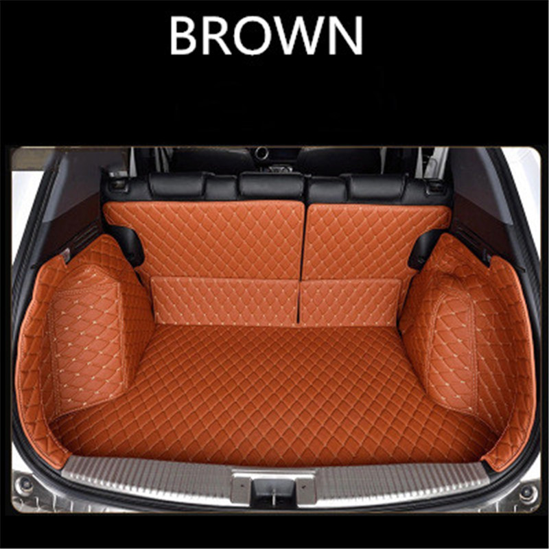 Custom Leather Car Trunk Mats For OPEL Astra K  Grandland X Insignia 2005-2018 Rear Trunk Floor Mat Tray Carpet