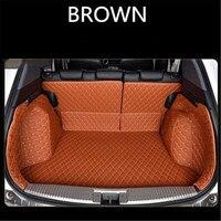 Custom leather Car Trunk Mats For OPEL Astra K Grandland x insignia 2005 2018 Rear Trunk Floor Mat Tray Carpet