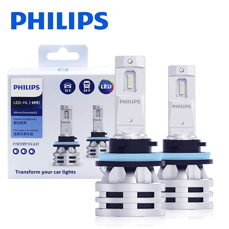 Philips H1 светодиодный H4 H7 автомобилей головной светильник лампы Ultinon Эфирное 6000K 9005 HB3 HB4 9006 H11 H8 H9 H16 (Япония) туман светильник luces auto lamps