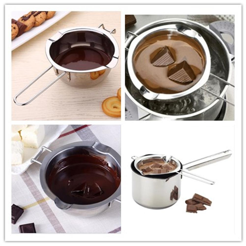 Super Deal 7947 400ml Silver Stainless Steel Chocolate