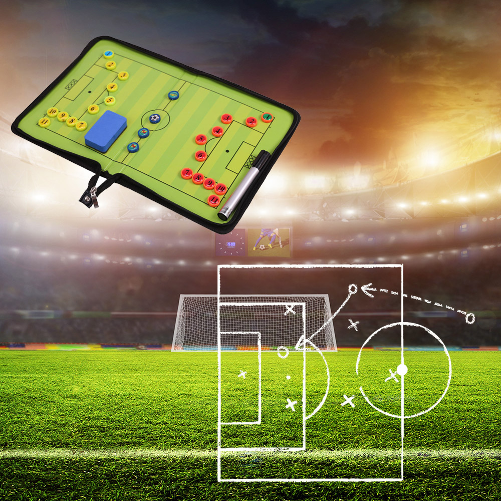 1Pcs Magnetic Soccer Coach Board Folding Football Coaching Tactics Tactical Plate Book Set Double Sided Football Coaching Board