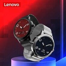Lenovo İzle X kalp hızı kan basıncı Bluetooth Smartwatch safir ayna spor saat Metal IP68 su geçirmez erkekler kadınlar için