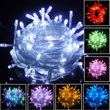 10m 220V LED Light Strap Lamp White Waterproof For Home Garden Christmas Decoration Accessories Decor Christmas